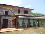 Glass covered veranda
