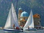 Sailing around Perast