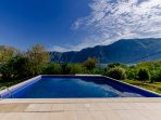 Mountain Bay's Swimming Pool with views of Lovcen Mountains