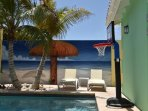 Poolside basketball