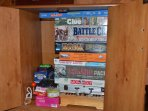We have several games and DVDs for you to enjoy!