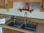 Nice sink for the dishes.