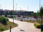 children playground near appartment