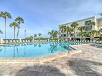 If you prefer to stay sand free, spend the day at the luxurious community pool.
