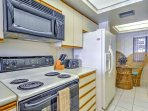Take advantage of the fully equipped kitchen for delicious home-cooked meals.