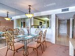Enjoy a good meal in the presence of great company at the formal dining table.