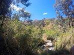 View of Cabañas Rio Yambala from the road - Vilcabamba