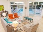 Beautiful views to pool and Buck Island