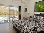 Master Suite #1 with King bed, Pool view