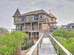 This 3,200-square-foot castle on the bay comfortably accommodates 10 guests and is located at the end of a private...