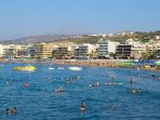 The long-long sandy beach of RETHYMNO