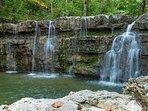 Waterfall on resort nature trail