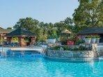 Resort outdoor pool area
