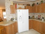 Large refrigerator freezer with icemaker