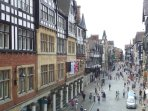 A view of Chester from along the Roman walls
