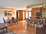 Kitchen & Dining Area in Great Room