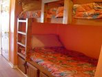 Bunk beds in the hall for children