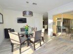 Breathtaking Kitchen Dining Offers Seating For Six (6) + LED HD TV + Pool Access