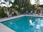 Stunning (Private) Heated Pool Lounge Offers Dining + Sofa + Chaise Lounges + BBQ...