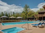 For an additional fee, take a dip in the community pool.