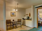 A kitchenette is available for whipping up quick meals.