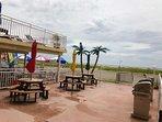 Ocean front BBQ area