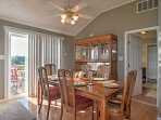 Enjoy meals together at the spacious dining table.