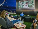Open air cinema ,situated in the Biosphere Plaza about 35 minutes walk away or 5 euros in a taxi.