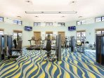 fitness center at oasis club (FREE to use)