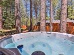 Take a soak in the private spa.