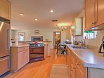 You'll love preparing home-cooked meals in this fully equipped kitchen.
