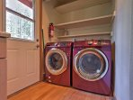 Laundry machines for your convenience.