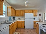 This fully equipped kitchen can handle all of your cooking needs throughout your stay.
