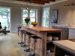 Large Beautiful Kitchen with Ocean Views, 7' Island.  Total size 23' x 13'