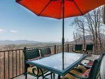 Deck with mountain views