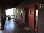 Front Porch with 2 Rockers and Gas BBQ Grill