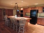 Fully Stocked Kitchen with 6 Counter Bar Stools