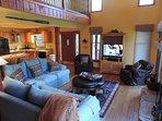 Living Room has 2 Sofas 2 Swivel Chairs