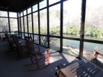 Screened in Porch over looking The Coosawattee River