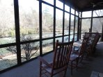 Screened in Porch looking The Coosawattee River