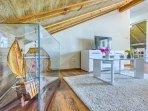 Living room in attic