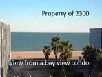Very limited View from a bay view condo instead of a bayfront condo.  Big Big difference!!!!!!!