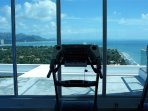 Our rooftop workout Facility with stunning views.