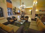 Lobby area, has spa, business center and exercise room.