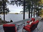 Seating overlooking Lake