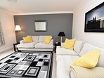 Our fantastic newly refurbished apartment with dedicated parking space.
