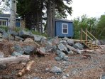 Cottage and bunkie are literally steps from your own waterfront area.