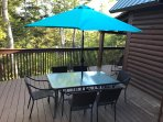 Private deck for outdoor dining