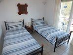 Villa Odysseus Upstairs Twin Room
