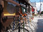 We have Japanese brand bike, 'tokyobike' for rent. 1000yen per day.